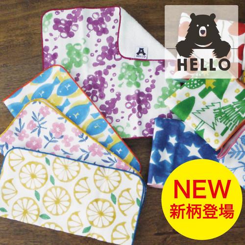 生活 雑貨 HELLO BEAR タオルハンカチ 日本製