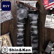 ジーンズ メンズ デニム パンツ JEANS ダメージ加工 大きいサイズ ジーパン mdnm002
