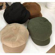 秋冬新作 帽子 キャップ ベレー帽 ハット 純色 画家 シンプル 韓国 ファッション