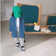 キッズ 子供服 長袖 デニム 個性 ファッション 秋冬 韓国 コート ロング