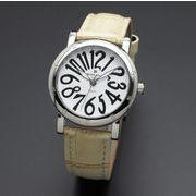 正規品AMORE DOLCE腕時計アモーレドルチェ AD18303-SSWH/IV ラウンド 革バンド レディース腕時計
