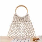 新品 レディース バッグ カゴバッグ 編みバッグ ハンドバッグ 透かし編み ショルダーバッグ