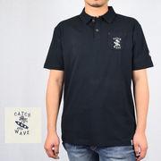 ☆【2019夏新作】T/Cカノコ 総柄プリント スキッパー ポロシャツ