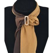 スカーフリング ブローチ 着物帯止め シンプル楕円形デザイン 全2色 b1273
