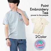 【19SS新作】【実績商品】ネオンサイン柄ワンポイント刺繍Tシャツ