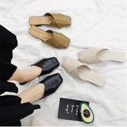 初回送料無料 2019ハングルセレブ ぺたんこ 靴 ビーチ サンダル 全3色 mjpxn-1903b0463