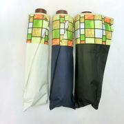 【晴雨兼用】【折りたたみ傘】高度な耐水性&UVカット率99%!ラティス切り継ぎ柄軽量丸ミニ折畳傘