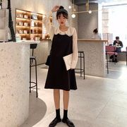 第1 番 ピープル ホーム 女性服 背中開き ひもあり ルース ベスト 小 黒スカート