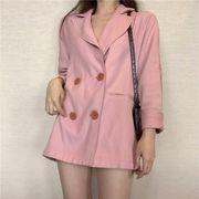 第1 番 ピープル ホーム 女性服 怠惰な 風 ピンクコート レジャー ルース 小 スー