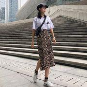 第1 番 ピープル ホーム 女性服 半袖Tシャツ  ヒップカバー スプリット ヒョウ ス