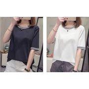 【大きいサイズXL-4XL】ファッション/人気カットソー♪ホワイト/ブラック2色展開◆