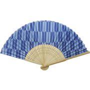 日本の伝統柄扇子 矢絣(すす竹)