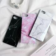 大理石・マーブル・スクエア・Phone8・Plus・iPhoneX・XS・XS Max・iPhoneXR[スマホケース/iPhoneケース]