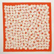 【ご紹介します!安心の日本製!KURUMI 大きな風呂敷 シャンタン三巾風呂敷】菊 オレンジ