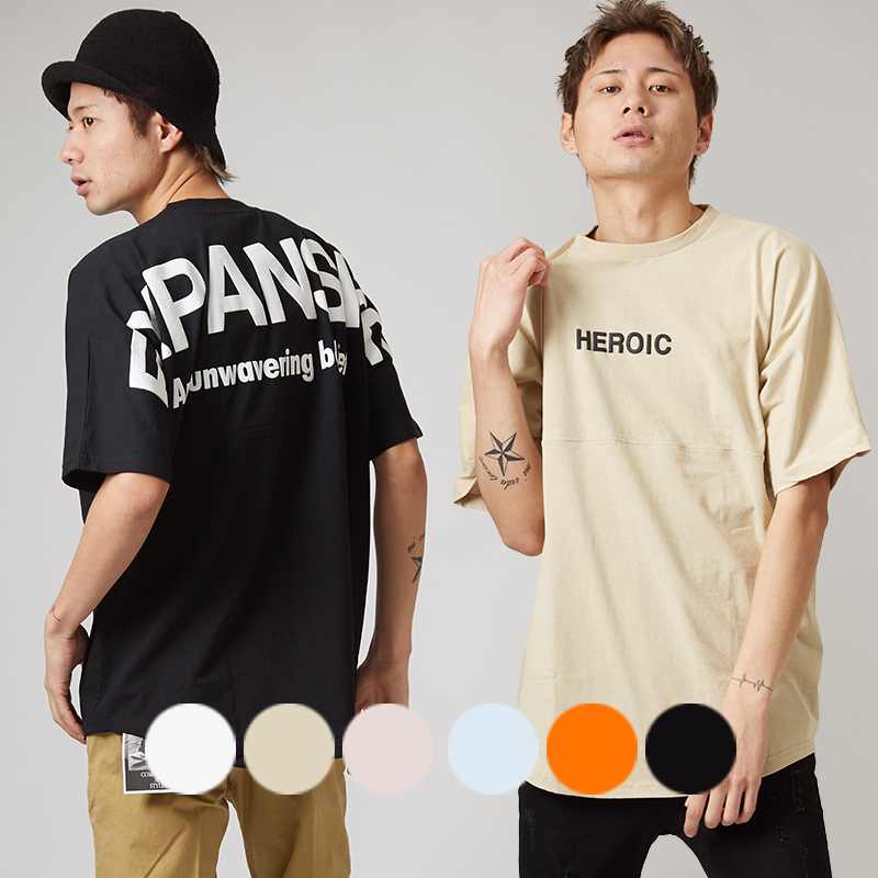 【2019春夏新作】メンズ 発泡プリント BIG 半袖 フットボール Tシャツ