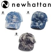 NEWHATTAN TIE-DYED DENIM BASEBALL CAP  17626