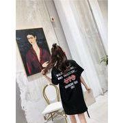 春夏新商品730692  大きいサイズ 韓国 レディース ファッション Tシャツ ワンピース  LL-4L