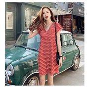春夏新商品730702 大きいサイズ ドレス 婦人服 日韓風 ワンピース3L 4L 5L