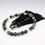 いざという時の必需品・天眼石(アイアゲート)の数珠 男女兼用