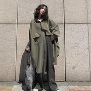 春 新しいデザイン 韓国風 学生 ポップ  コート アウターウェア 女の子の長いセクショ
