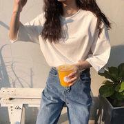 韓国シリーズ 夏 新しいデザイン 大きいサイズ ルース 何でも似合う 着やせ 言葉 プリ