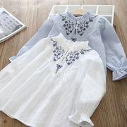 春 新しいデザイン 女児 トップス キッズ洋服 フラワーズ ファッション 人形 シャツ