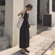 韓国風 夏 新しいデザイン ルース 何でも似合う 着やせ 弔り 襟 帯 ベスト 中長スタ