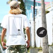 Tシャツ メンズ レディース カットソー 半袖 クルーネック サーフ ロゴ プリント バックプリント