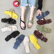 ネット レッド 人字 トウ 女 新しいデザイン 韓国風 何でも似合う フォルダ 脚 スリ-続く(1)