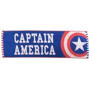 【バスタオル】キャプテンアメリカ ジャガードジュニアバスタオル/ブルー&レッドスター
