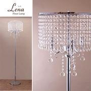 【LED対応 E12/40W】クリスタル フロアランプ LENA レナ(3灯)
