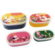【お弁当箱・シール容器】ムーミン 4Pランチボックス/お花畑