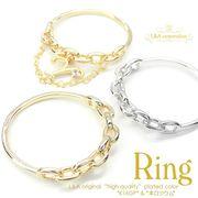 ★新商品★L&A original parts★おしゃれなチェーン型リング指輪★アレンジ自在★最高級鍍金★