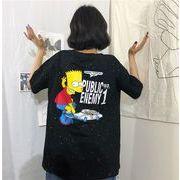 春夏新商品730794  大きいサイズ 韓国 レディース ファッション Tシャツ ワンピース  LL-4L
