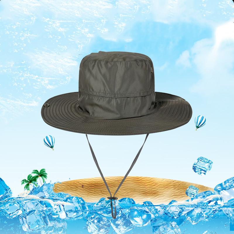 日よけハット サファリハット アドベンチャーハット 折りたたみ 帽子 男女兼用 紐付 紫外線対策 アウトドア