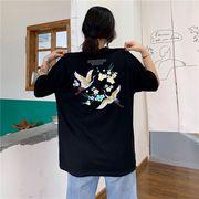 春夏新商品730800  大きいサイズ 韓国 レディース ファッション Tシャツ ワンピース  LL-4L