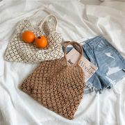 NEWタイプ登場涼しい   手織り   百掛け ハンドバッグ エレガント 夏 かごバッグ ショルダーバッグ