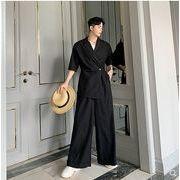 【春夏新作】ファッション/人気ツナギ♪ブラック/アンズ2色展開◆