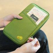 パスポートケース カード入れ トラベルオーガナイザー 航空券対応 ファスナー開閉 男女兼用財布 旅行出張用