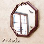 French Ribbon フレンチリボン ウォールミラー(オクタゴナル)♪