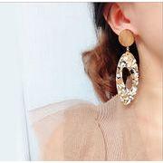 ピアス 楕円 誇張 欧米風 レディースファッション 韓国 イアリング オシャレ