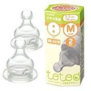 テテオ乳首 母乳 ミルク用 Mイズ2個入