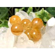 天然石ビーズ シトリン【黄水晶】 6ミリ→12ミリ 粒売り