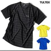 ★吸汗速乾でサラッとした肌触り★TULTEX 通気性抜群のボーダー柄ジャガード織りドライTシャツ★