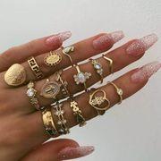 ★リング★アクセサリー★女性の指輪★15点セット