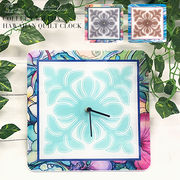 Colleen Wilcoxハワイアンキルト型掛け時計