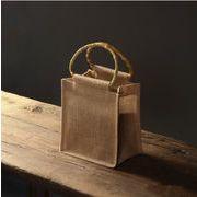 ハンドバッグ 麻バッグ かごバッグ クラシック プレゼントバッグ