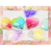 ガラス製花びら 金粉入りグラデーションオーロラ加工サンキャッチャー フラワーパーツ 花モチーフ