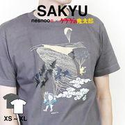 和柄 ユニセックス 鬼太郎コラボTシャツ  空旅シリーズ「鳥取砂丘」