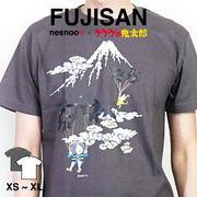 和柄 ユニセックス 鬼太郎コラボTシャツ  空旅シリーズ「富士山」